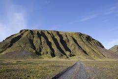 Berg in een gouden licht in IJsland Stock Afbeelding