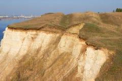 Berg efter en jordskred arkivfoto