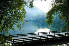 Berg Emei - Wangyue See Lizenzfreie Stockfotografie