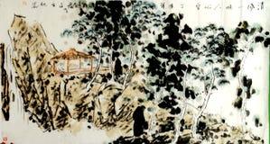 Berg en paviljoen Stock Afbeeldingen