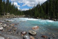 Berg en rivieren stock fotografie