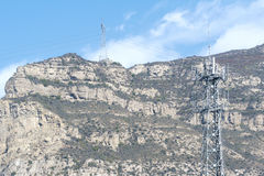 Berg en seinhuisje Stock Foto