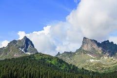 Berg Ergaki Arkivfoto
