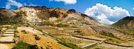 Berg Esan, Hokkaido, Japan Lizenzfreie Stockbilder