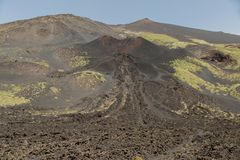 Berg Etna Erupted im Frühjahr Lizenzfreies Stockbild