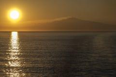 Berg Etna Sunset stockbilder