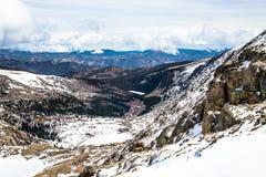 Berg Evans Summit - Colorado Lizenzfreies Stockbild