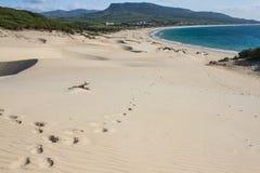 Berg för öken för sand för hav för blå himmel för sommarsol arkivbild