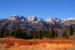berg för 34 äng Arkivfoton