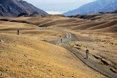 berg för affärsföretagcykelkonkurrens Royaltyfria Bilder
