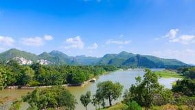 Berg för bästa sikt, kanchaburi Arkivfoton