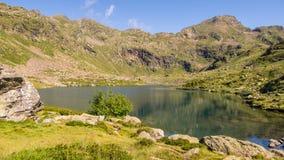 berg för berg för lake för gummilacka för corsica corsican crenode france Royaltyfri Bild