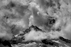 berg för blanca cordillera Arkivfoto