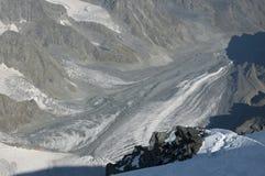 berg för caucasus dombay glaciärberg Arkivfoton
