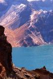 berg för changbaikraterlake arkivfoton