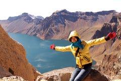 berg för changbaikraterlake Fotografering för Bildbyråer