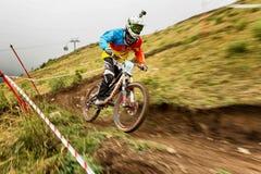 berg för cykelkonkurrensextreme royaltyfria bilder