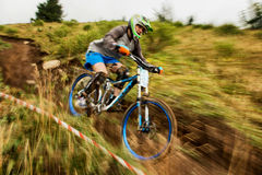 berg för cykelkonkurrensextreme arkivbilder