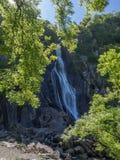 berg för falls för aberabergwyngregyncarneddau near den norr uk-byn wales Royaltyfria Foton