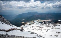 Berg för JadedrakeSnow Fotografering för Bildbyråer