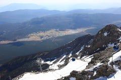 Berg för Jadedrakesnow Arkivbild