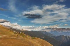 berg för kloster för alaverdicaucasus georgia kakheti Fotografering för Bildbyråer