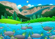 berg för liggande för ayucrimea dag lake royaltyfri illustrationer
