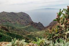 Berg för Los Gigantes, Tenerife Arkivbilder
