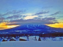 Berg för molnöverkant Arkivbilder