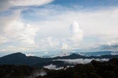 Berg för Phu Chifa, Chiang Rai Thailand Royaltyfria Bilder