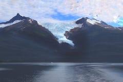 Berg för tabellöverkant i Juneau Alaska arkivfoton