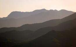 Berg för toppig bergskedjade Mijas. Spanien Royaltyfria Bilder