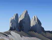 Berg för Tre cime di Lavaredo Royaltyfri Fotografi