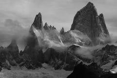 Berg Fitz Roy i Patagonia arkivbild