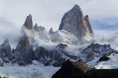 Berg Fitz Roy i Patagonia royaltyfri foto