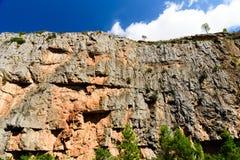 Berg från hög poäng Arkivbild