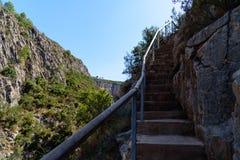 Berg från hög poäng Arkivbilder