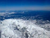 Berg från nivån Arkivfoton