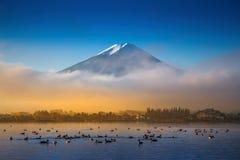 Berg Fuji en Kawaguchiko-meer stock afbeeldingen