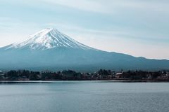 Berg Fuji in Japan stock foto