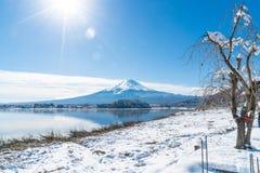 Berg Fuji San på Kawaguchiko sjön Royaltyfri Bild