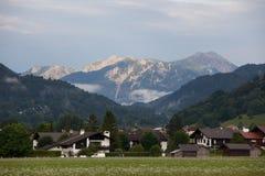 Berg in Garmisch-Partenkirchen, Deutschland Stockbild