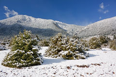 Berg Giona-Winter Stockfotos