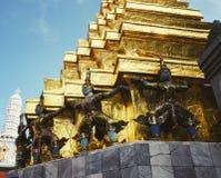 Berg gouden met reuzen Royalty-vrije Stock Afbeeldingen