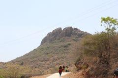 Berg in Gujarat stockfotografie