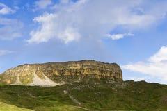 Berg Gumbashi 2008 3280 kant steniga russia för maximum för april uppstigningcaucasus norr Fotografering för Bildbyråer