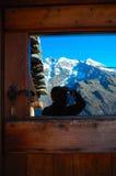 Berg in het glas royalty-vrije stock afbeeldingen