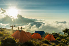 Berg het kamperen Royalty-vrije Stock Foto
