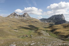 Berg in het Nationale Park van Durmitor Stock Fotografie
