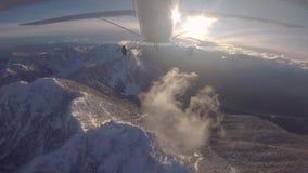 Berg het Vliegen stock footage
